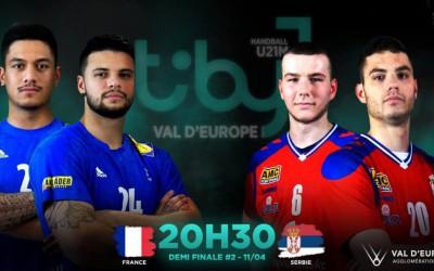 FULL GAME 2ND SEMI FINAL I France - Serbia - TIBY Handball U21M